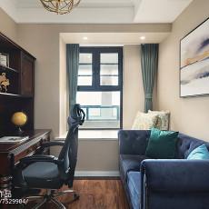 2018精选面积93平美式三居书房装修设计效果图片大全