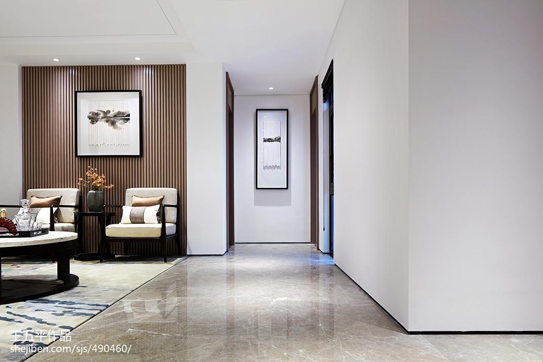 新中式別墅過道設計實景圖