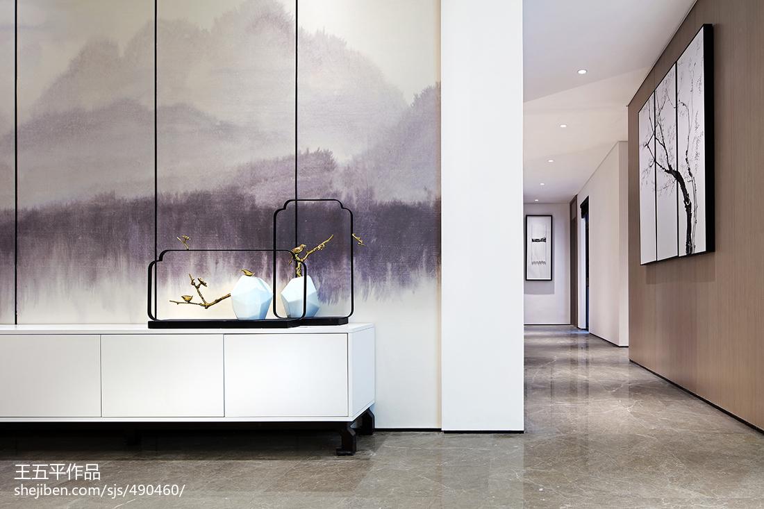 2018面积119平别墅客厅中式装修设计效果图片大全