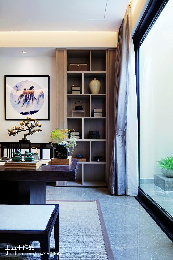 125平米中式别墅书房实景图片欣赏
