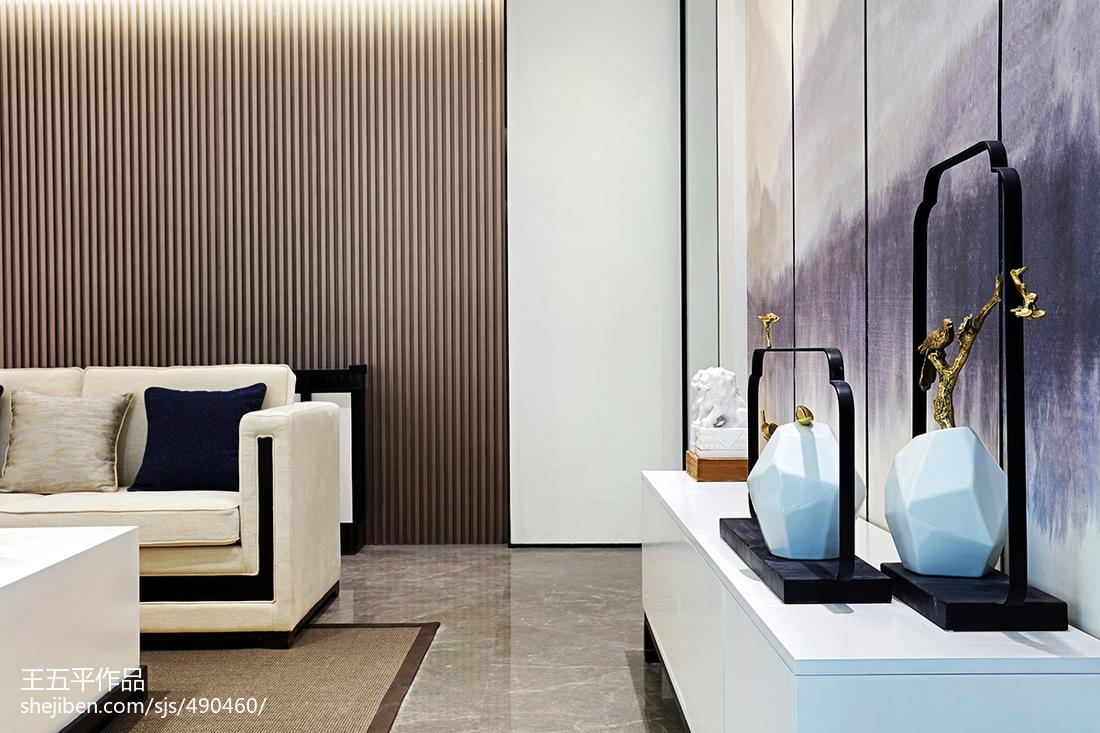 精选面积120平别墅客厅中式装修设计效果图片欣赏