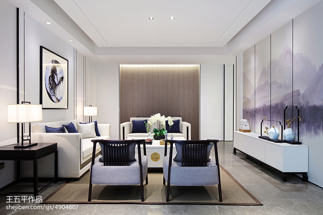 热门123平米中式别墅客厅装饰图片