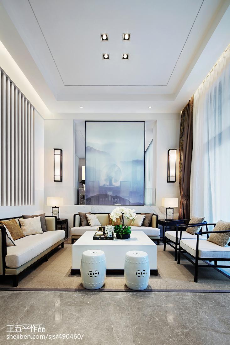 精美面积144平别墅客厅中式装修设计效果图