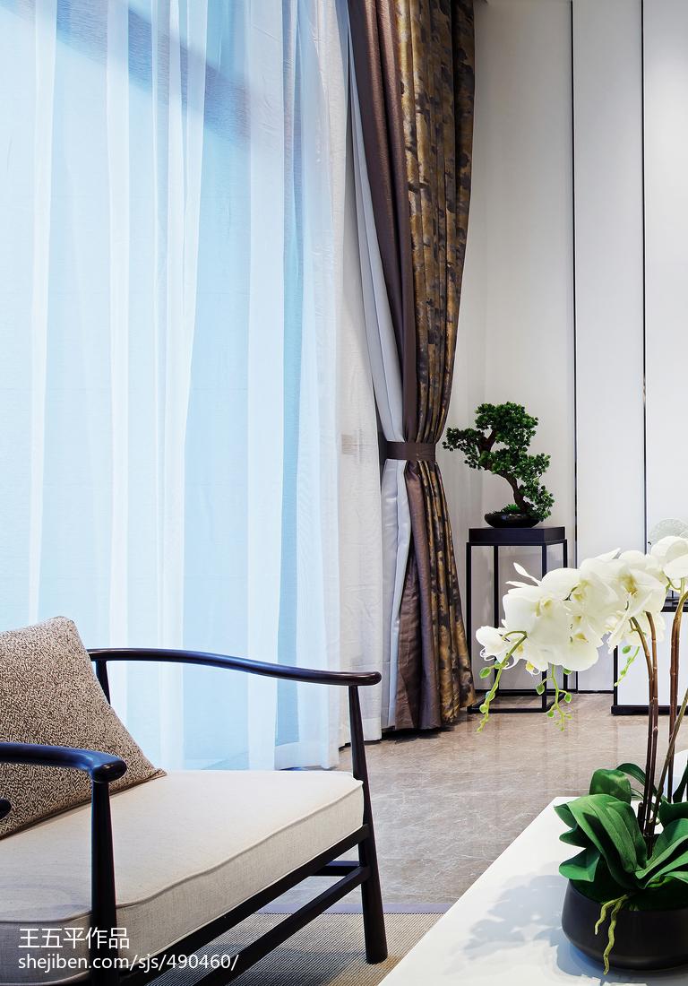 精美143平米中式别墅客厅实景图片欣赏