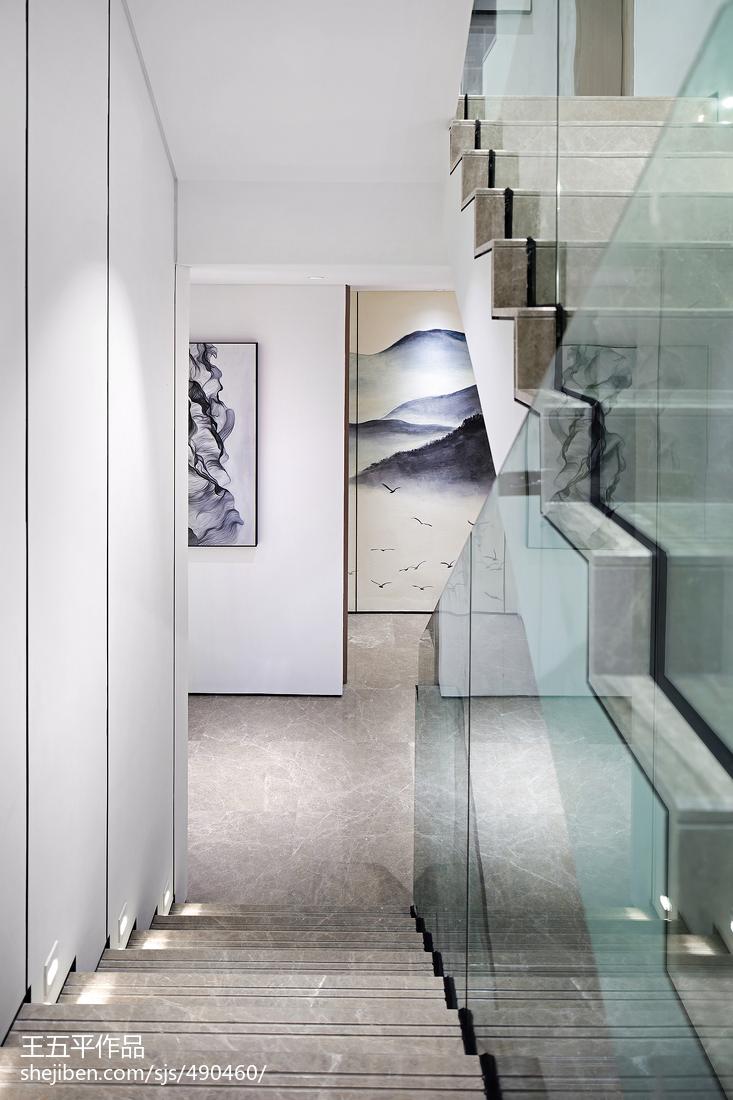 新中式別墅樓梯設計實景圖