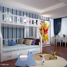 四居儿童房美式装修设计效果图片