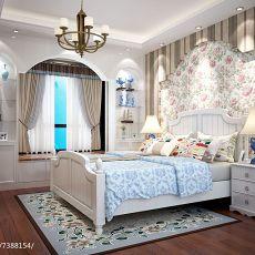 面积131平美式四居卧室装饰图片欣赏