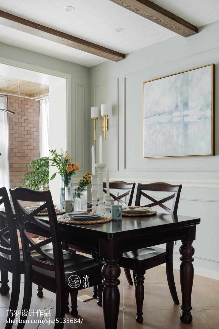 典雅157平美式四居餐厅案例图
