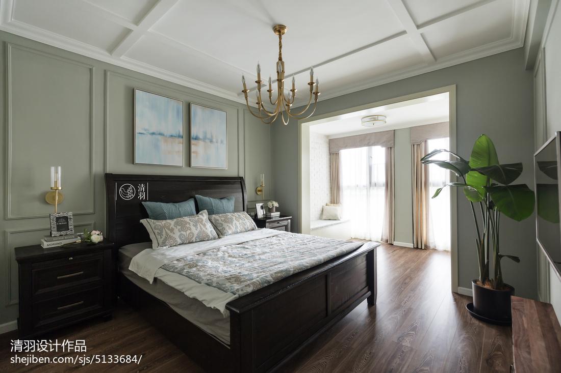 浪漫119平美式四居卧室设计效果图