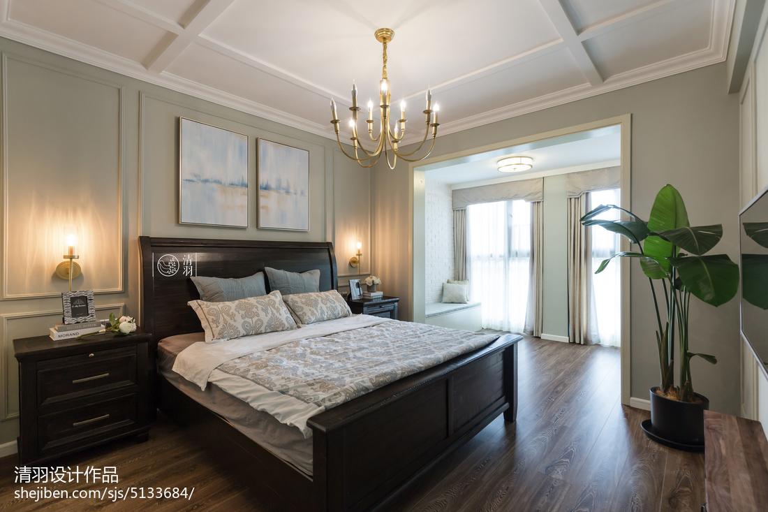 典雅139平美式四居卧室装修图