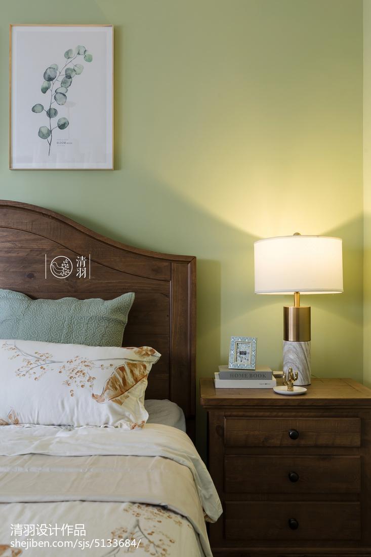 优美128平美式四居卧室布置图