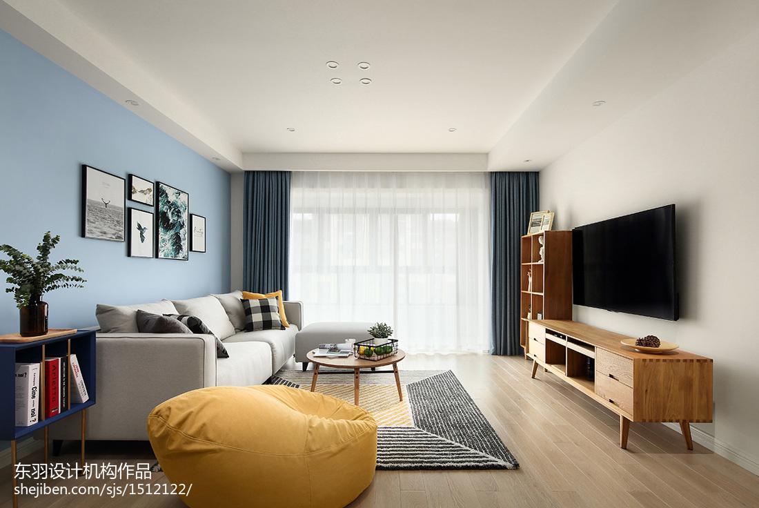 精选93平米三居客厅北欧效果图片