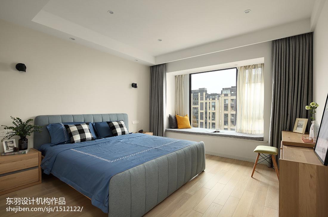 精美面积105平北欧三居卧室效果图