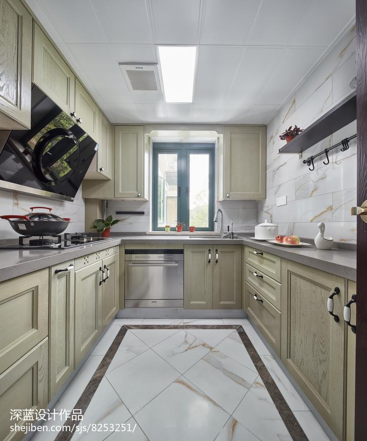 热门85平米二居厨房中式装修欣赏图片大全