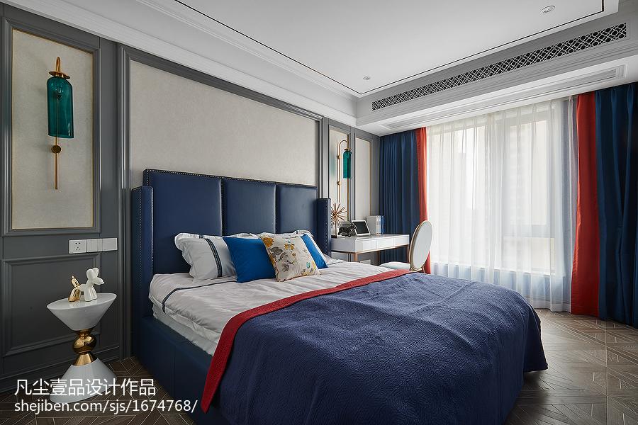 温馨130平法式三居卧室装修装饰图