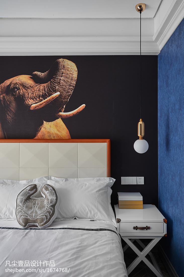 温馨103平法式三居卧室实景图