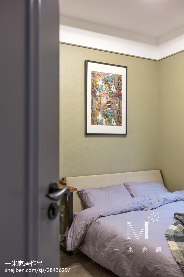 精选105平方三居卧室混搭装修设计效果图片大全