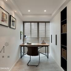 热门面积96平混搭三居书房装修欣赏图片大全