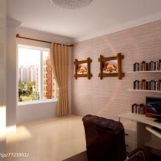 精选70平米二居书房现代装修欣赏图