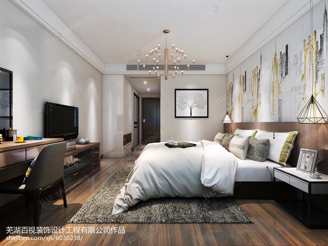 2018面积142平简约四居卧室装修设计效果图