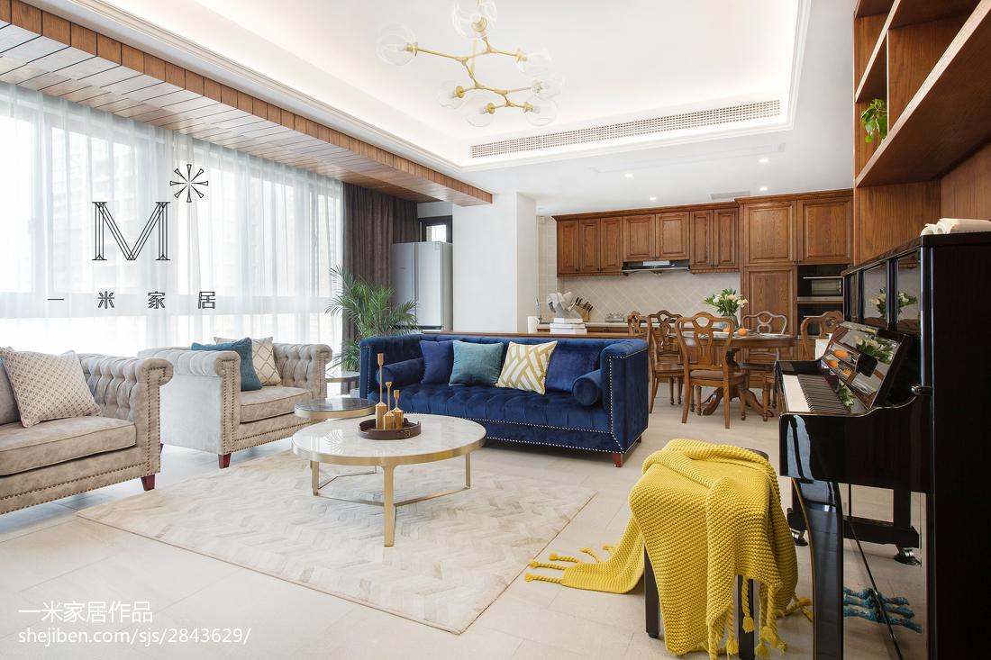 热门106平米三居客厅现代装修设计效果图