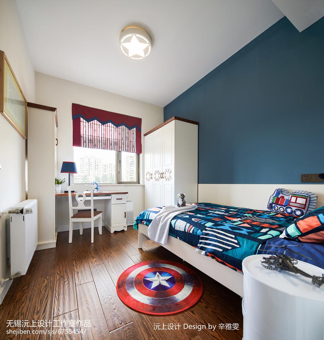 精美面积90平现代三居儿童房实景图片