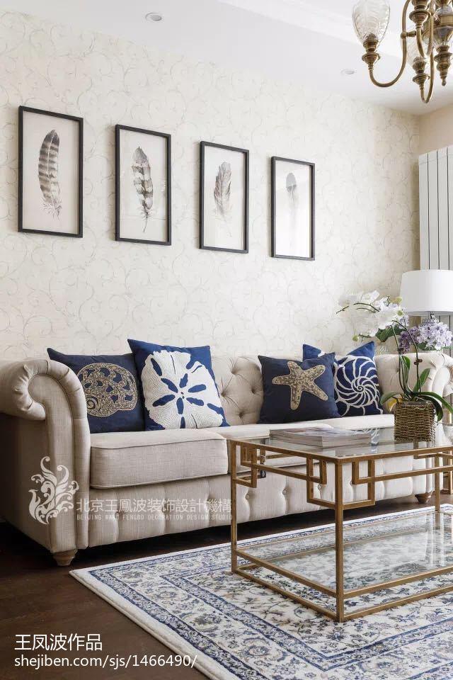 2018美式小户型客厅效果图片