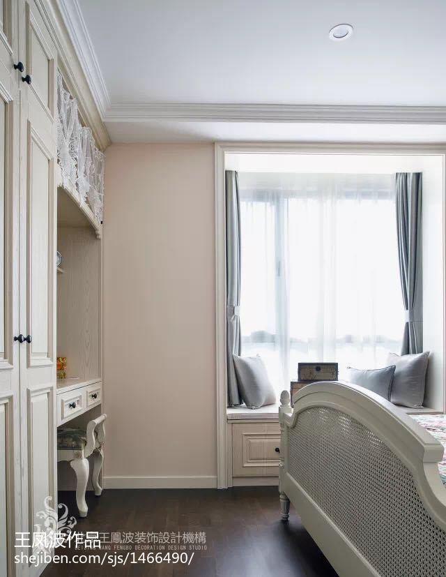 面积82平小户型卧室美式实景图片