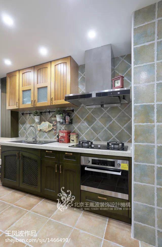 2018精选82平米美式小户型厨房欣赏图片大全
