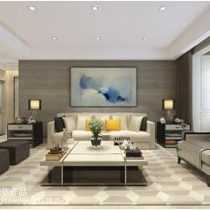 热门面积94平现代三居客厅装修图片欣赏