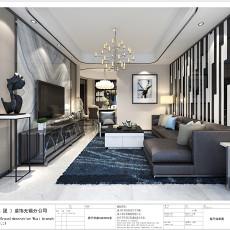 2018精选84平方二居客厅现代装修实景图片大全