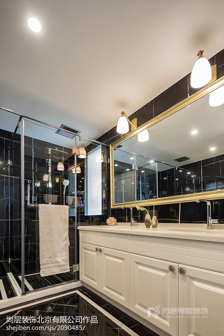 轻奢592平法式别墅卫生间装饰图片