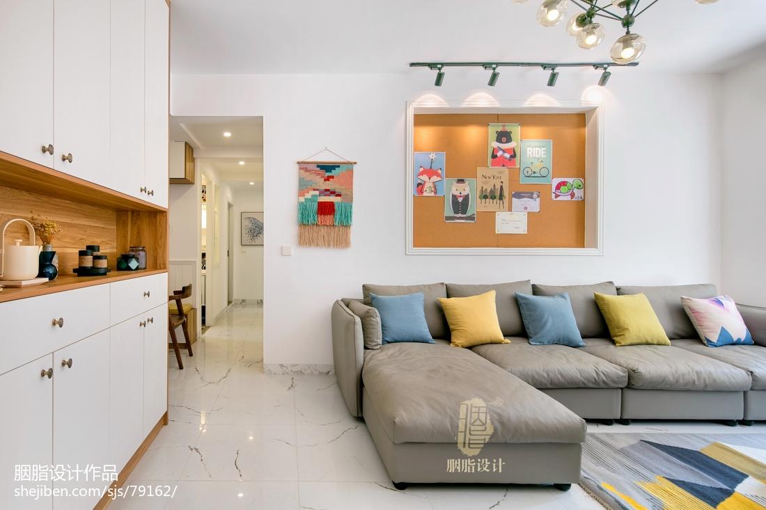 质朴101平北欧四居客厅装饰图
