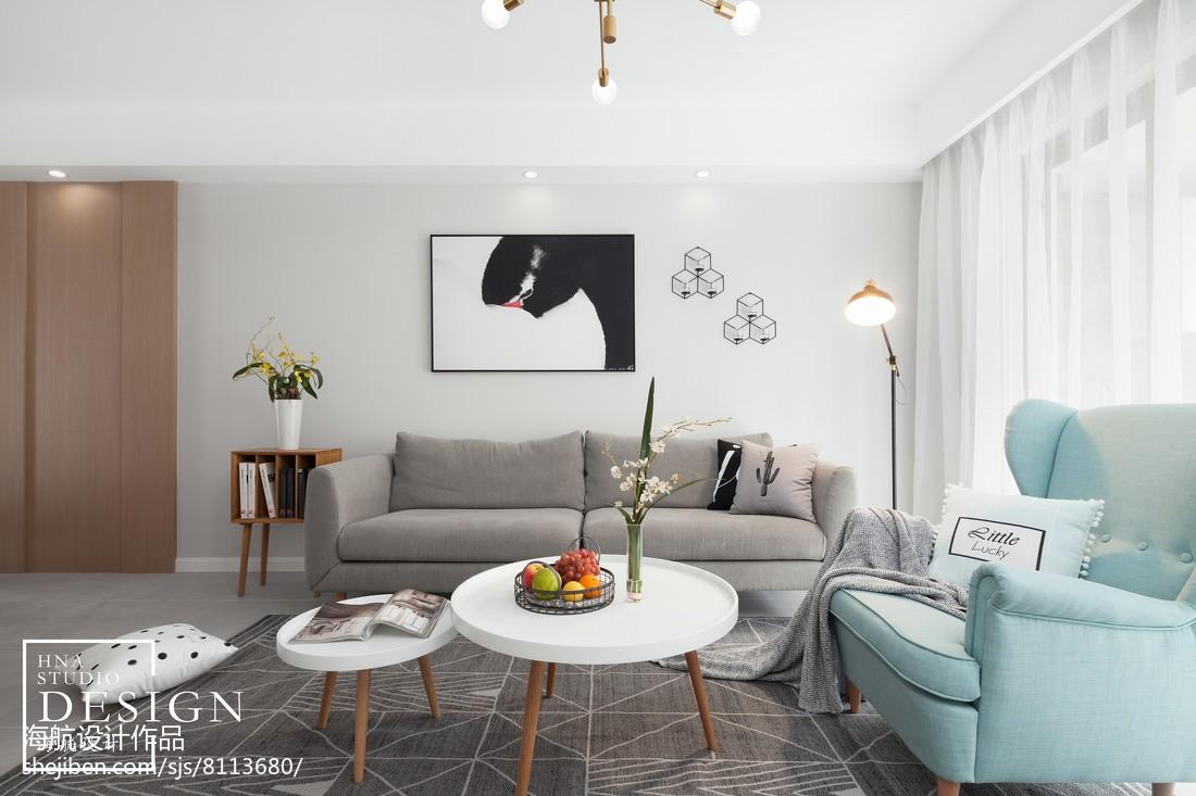 四居北欧客厅沙发设计图