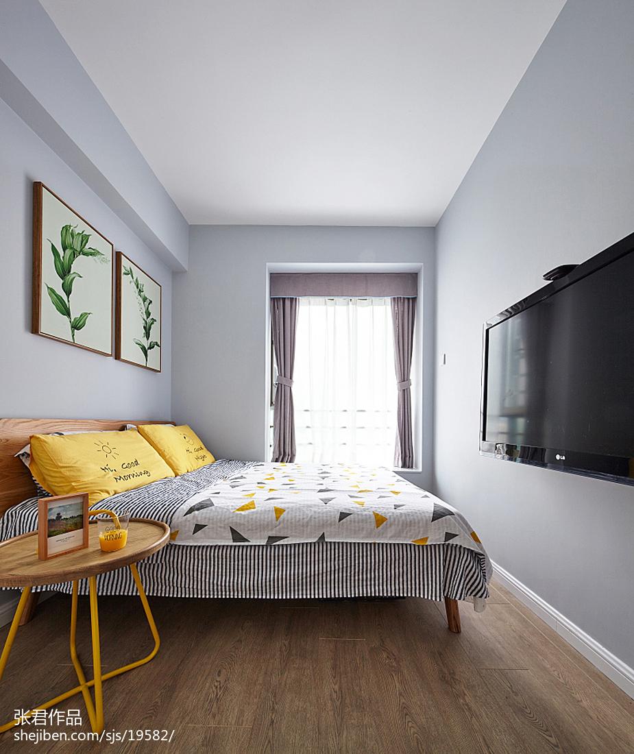 热门108平米三居儿童房北欧装修图