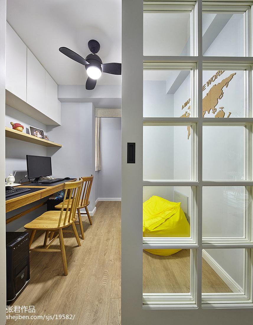 热门三居书房北欧装修设计效果图片大全