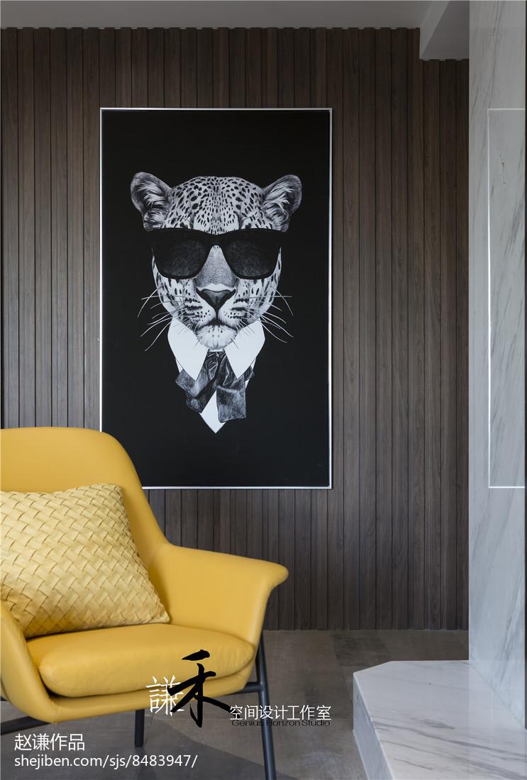 精美面积134平现代四居客厅效果图片欣赏