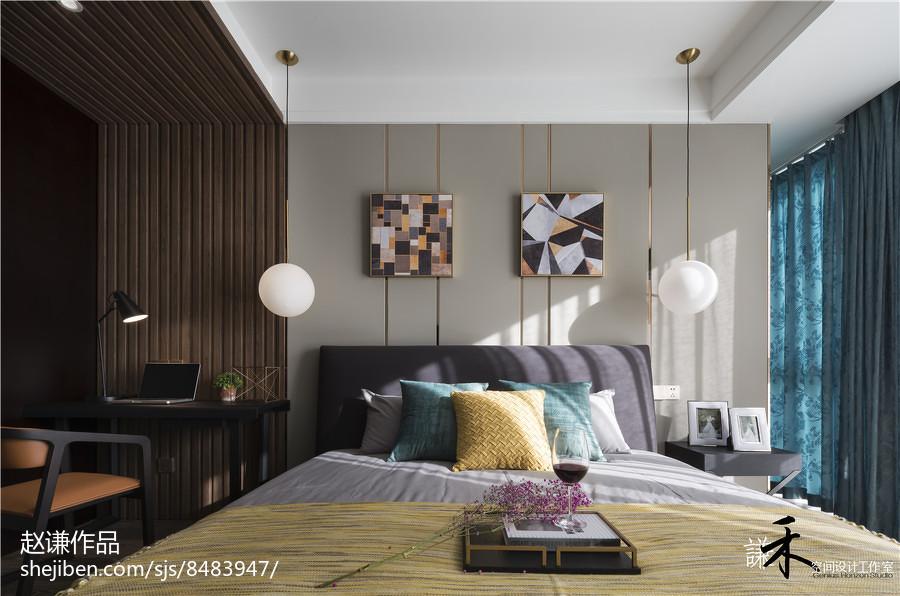 143平方四居卧室现代装饰图片大全