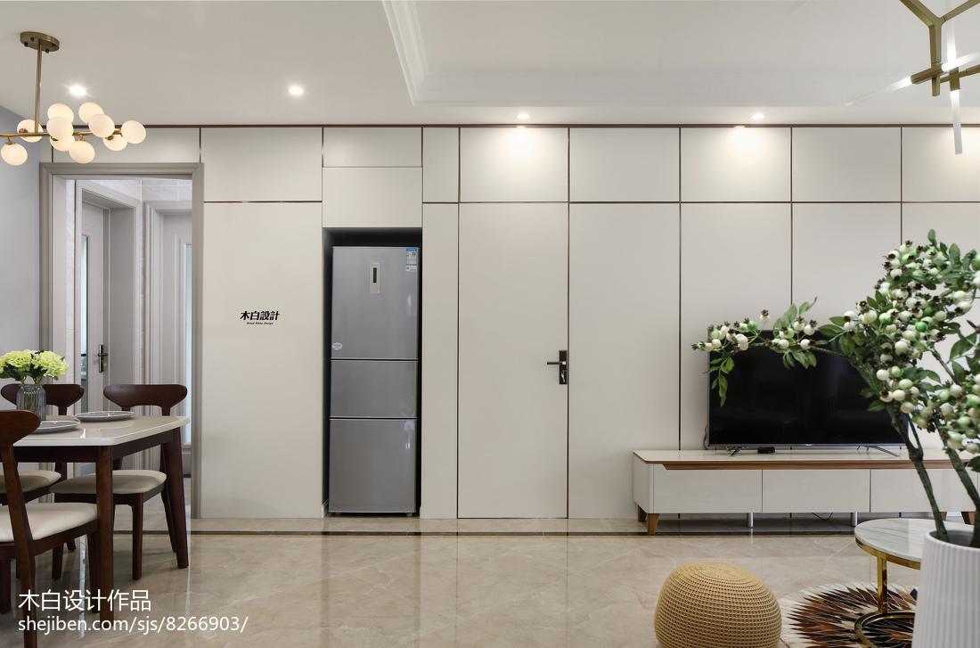 热门面积96平现代三居客厅装修效果图片欣赏