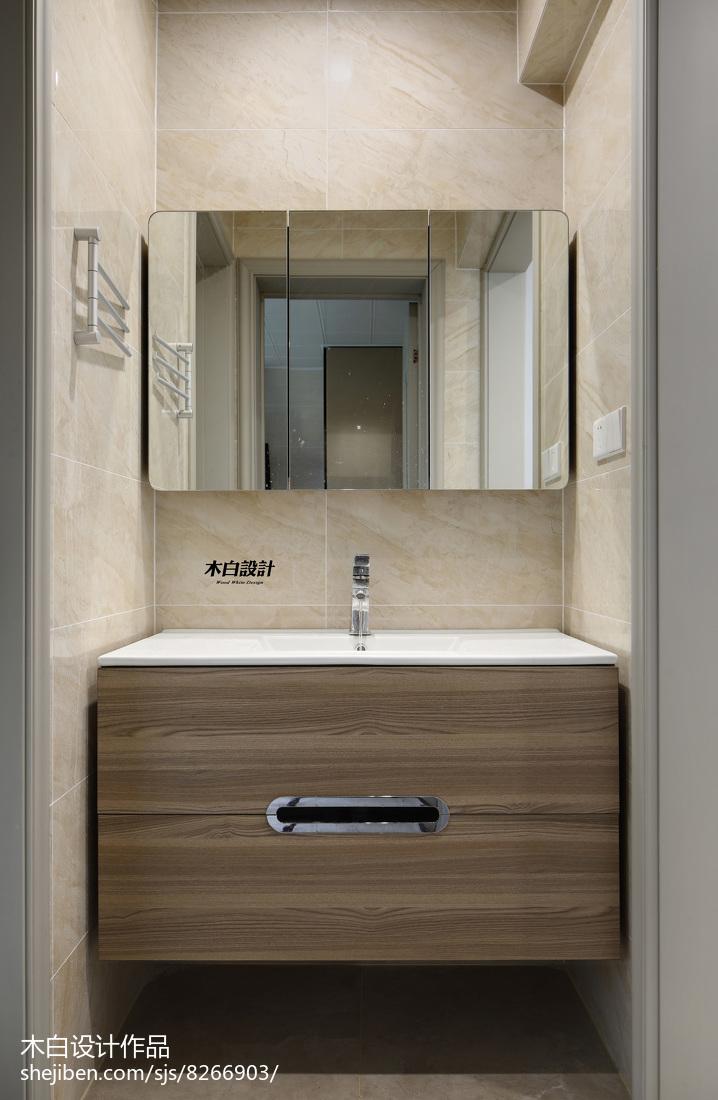精选现代三居卫生间实景图片大全