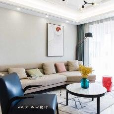 2018精选大小91平简约三居客厅效果图