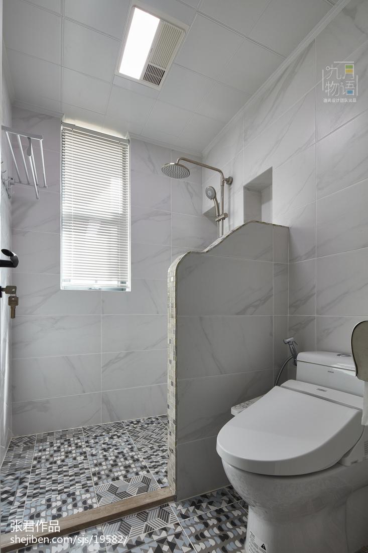 2018面积137平北欧四居卫生间装饰图片大全