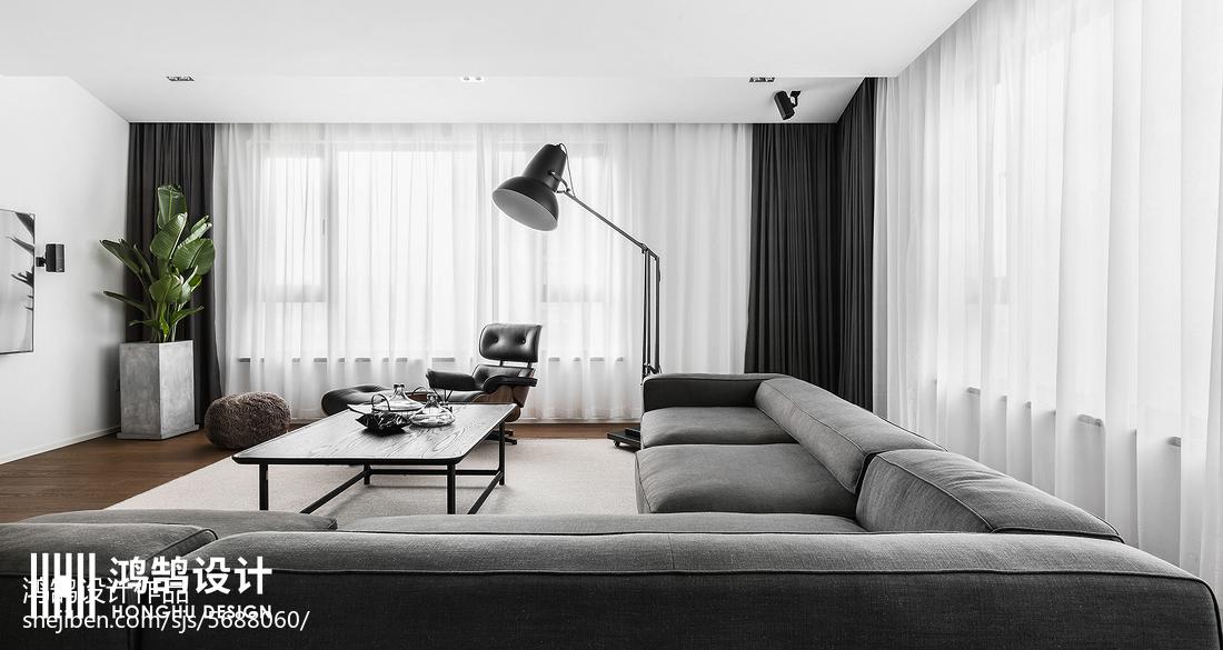 2018精選83平方二居客廳現代裝修設計效果圖片大全