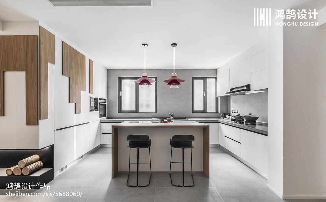2018现代二居厨房装修效果图片大全