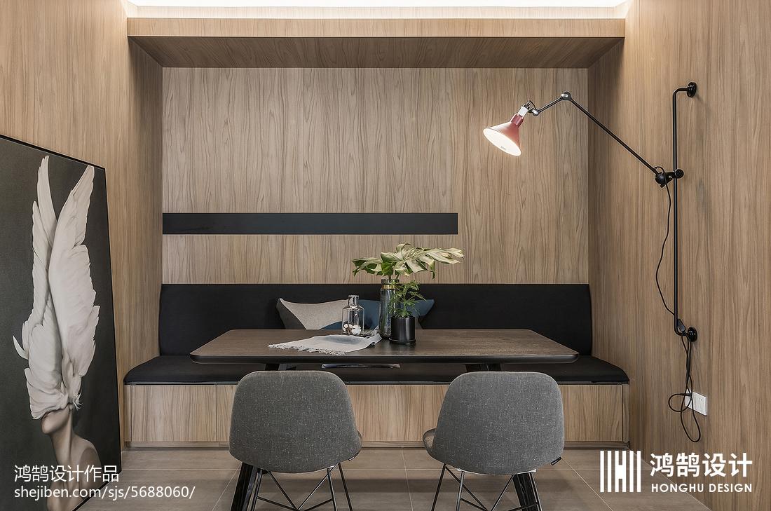 2018精选面积70平现代二居餐厅装修设计效果图片