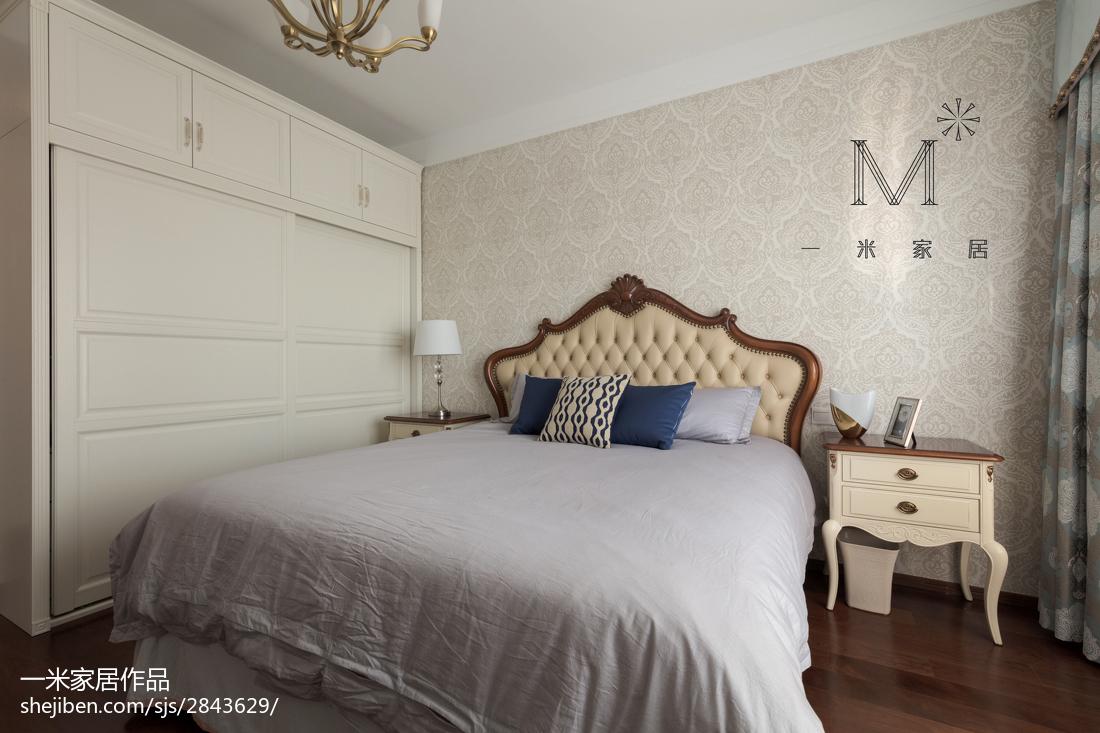 2018精选面积78平简欧二居卧室装修效果图片大全