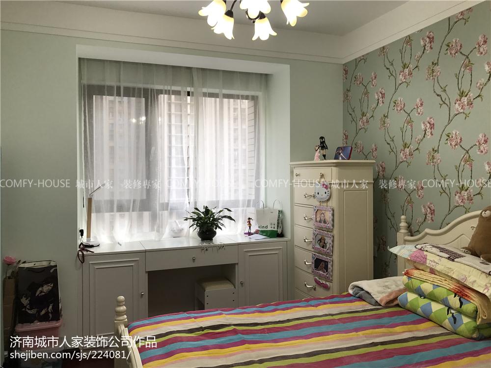 精美108平米三居卧室简约装修图片大全