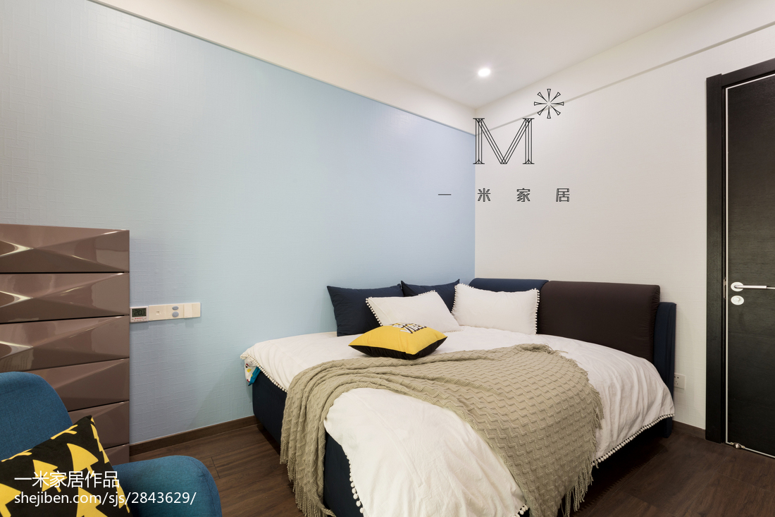 热门73平米二居儿童房现代实景图片大全