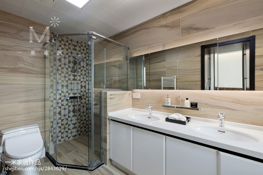 精选面积79平现代二居卫生间装修设计效果图片欣赏