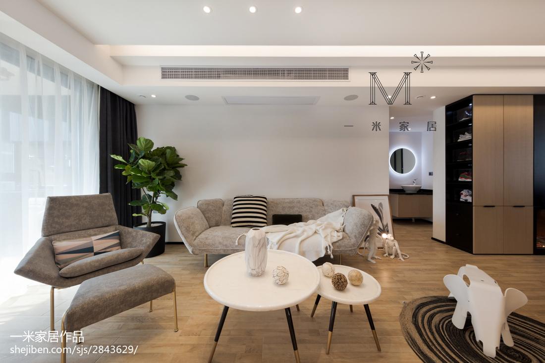 2018精选87平米二居客厅北欧装修设计效果图片大全